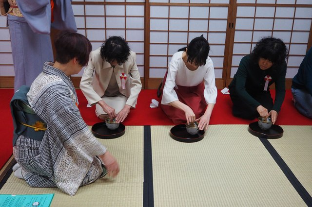 Tea ceremony workshop